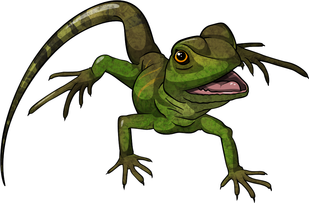 Green clipground realistic. Lizard clipart water dragon