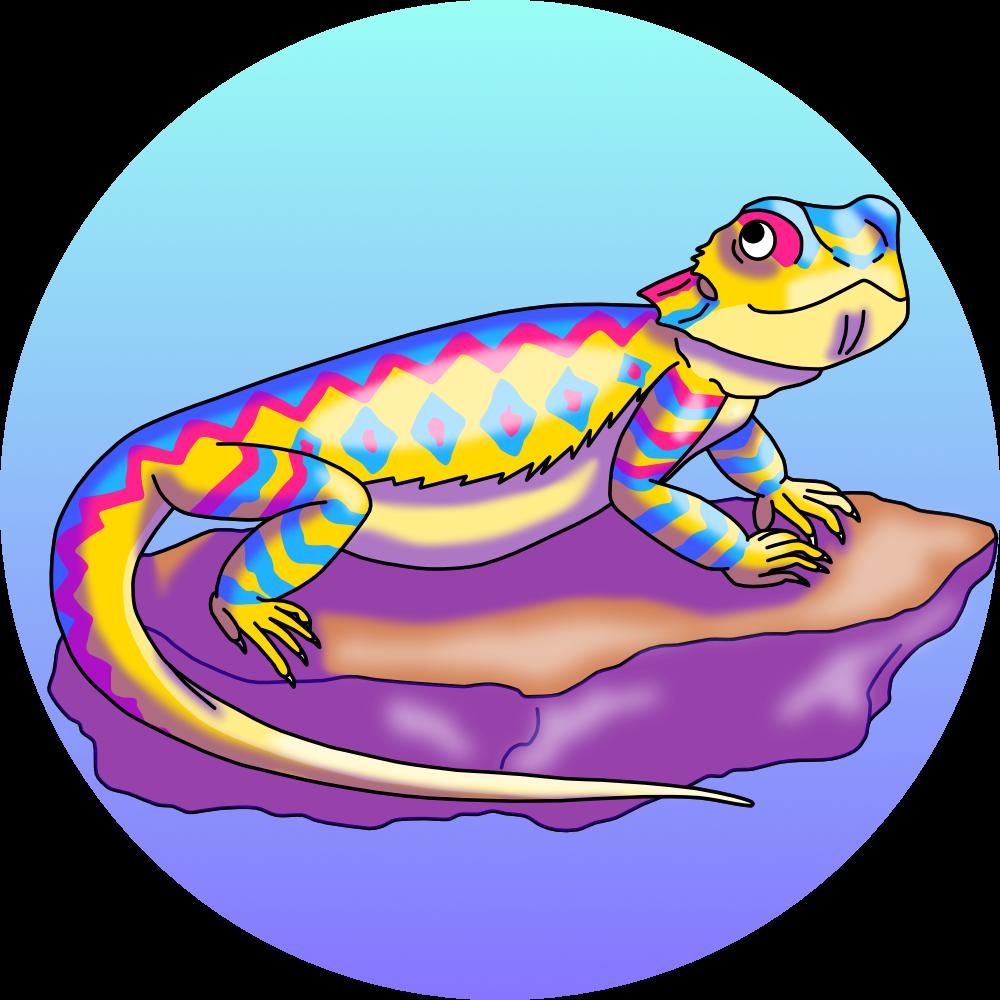 Toderco art tweet this. Lizard clipart yellow spot