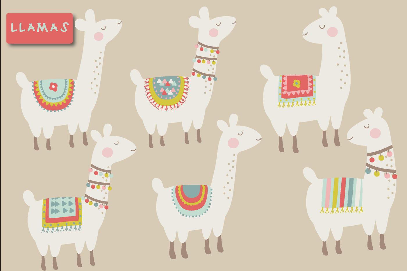 Llama clipart. Cute by poppymoon design