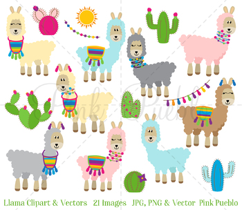 Llama clipart. Clip art cactus by