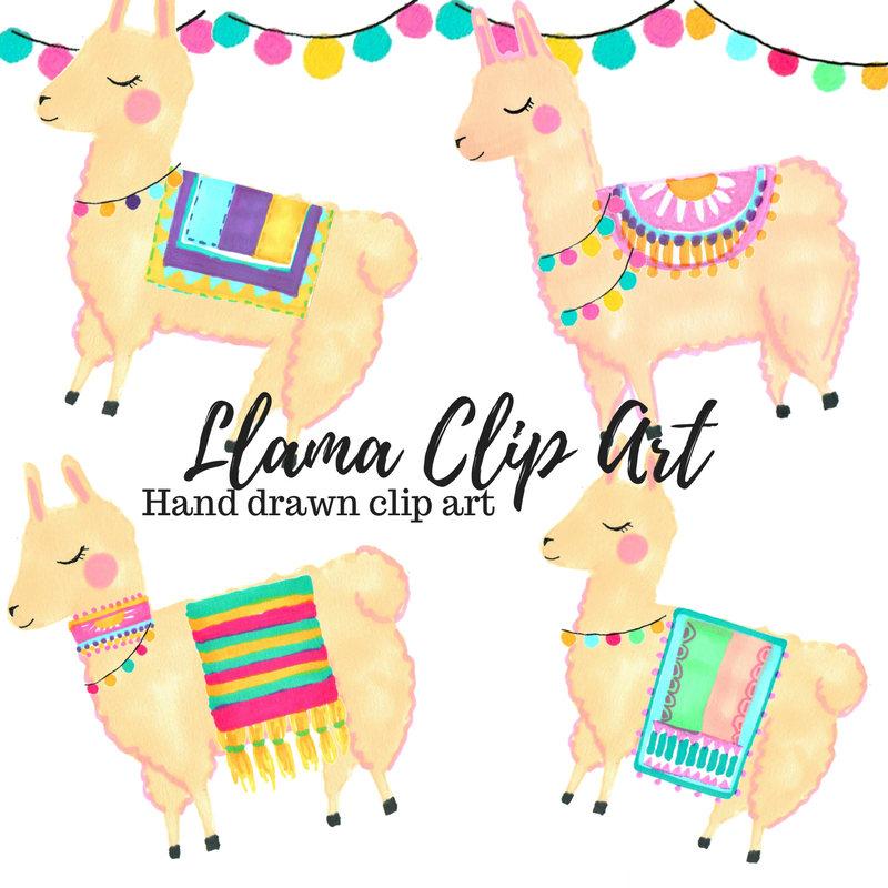 Clip art animal cute. Llama clipart