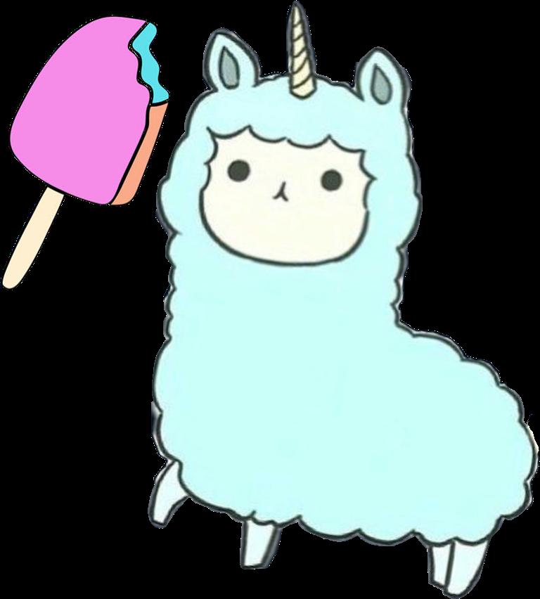 Llamacorn blue skyblue pretty. Llama clipart colorful