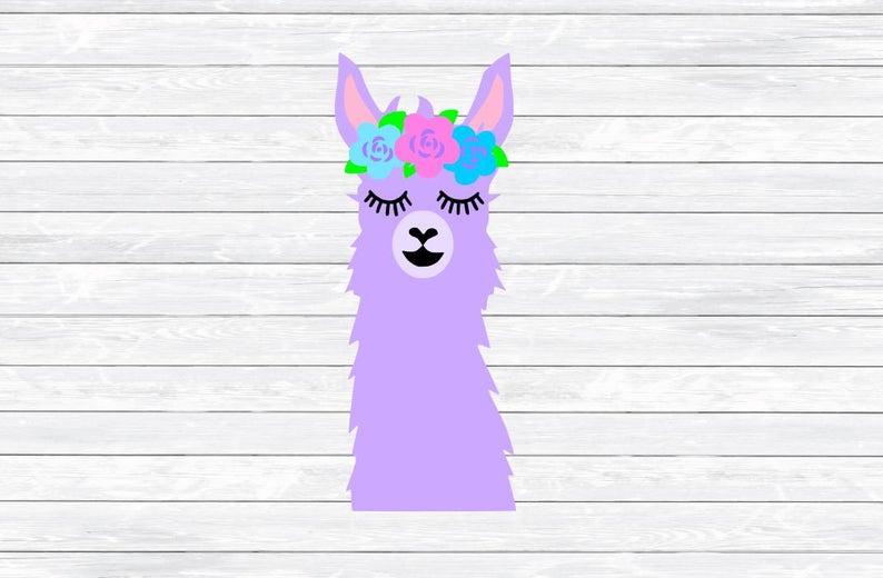 Llama clipart head. Face svg dxf png