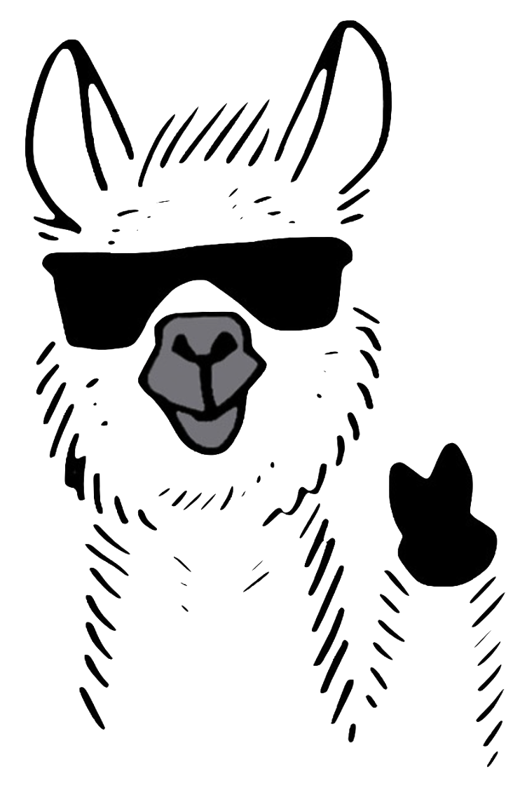 Pack backcountry adventures and. Llama clipart head