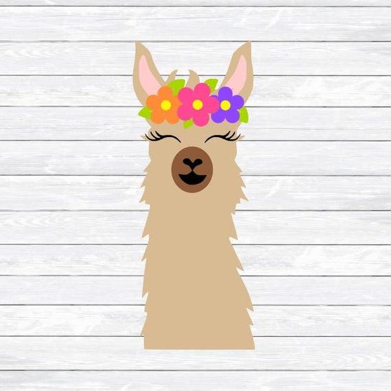 Svg face mama dxf. Llama clipart head