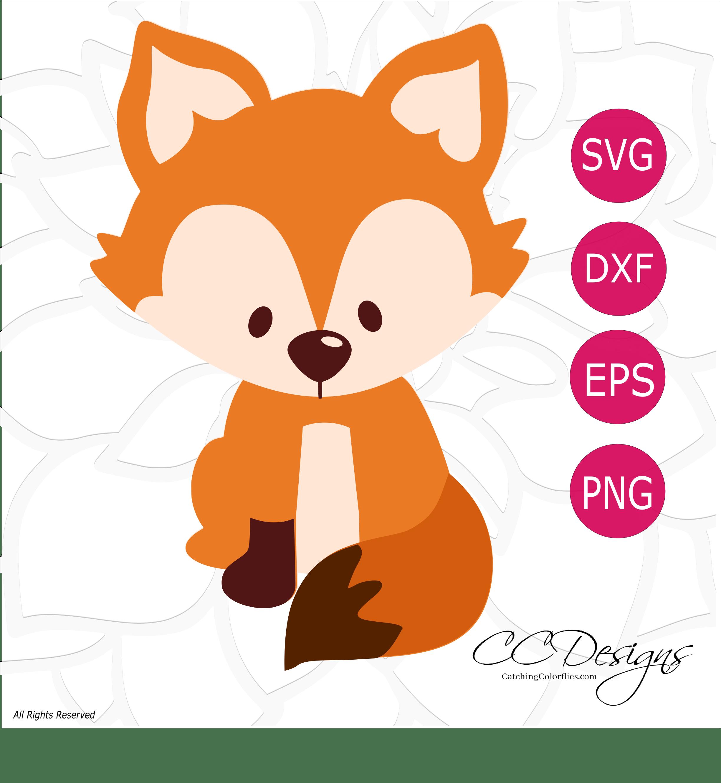 Free svg cut file. Woodland clipart kit fox