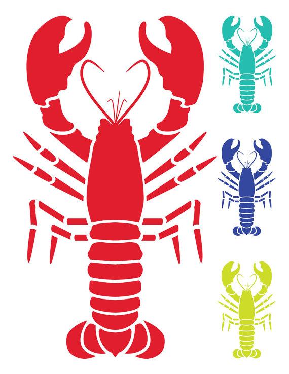 Lobster clipart. Nautical clip art vector