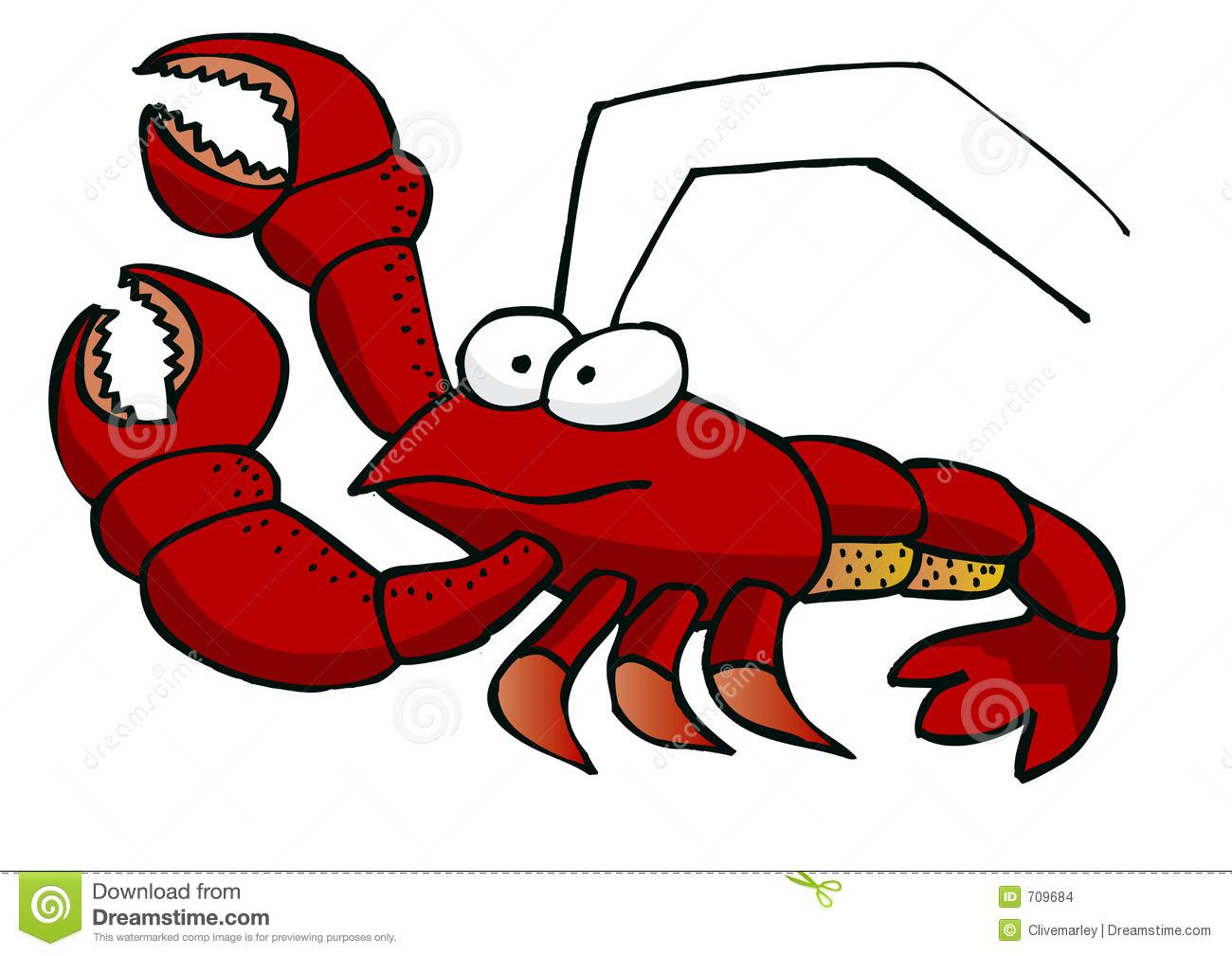 Cartoon . Lobster clipart