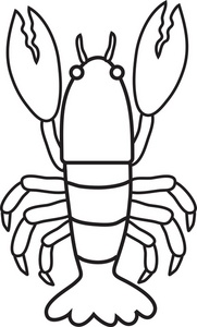 Panda free . Lobster clipart black and white