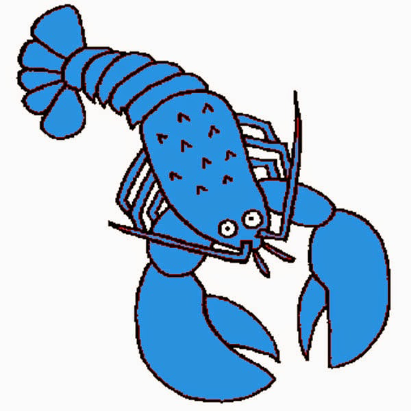 Gonna stuff a chicken. Lobster clipart blue lobster