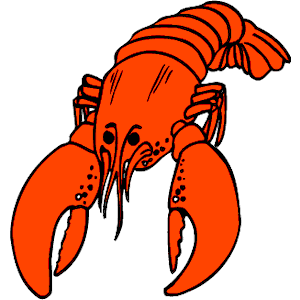 Lobster clipart blue lobster. As well shrimp and