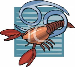 Lobster clipart cancer. A and the sign