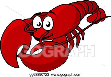 Vector illustration red eps. Lobster clipart cartoon