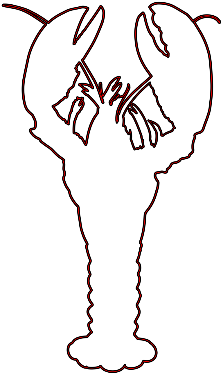 Outline of wikiclipart . Lobster clipart cartoon
