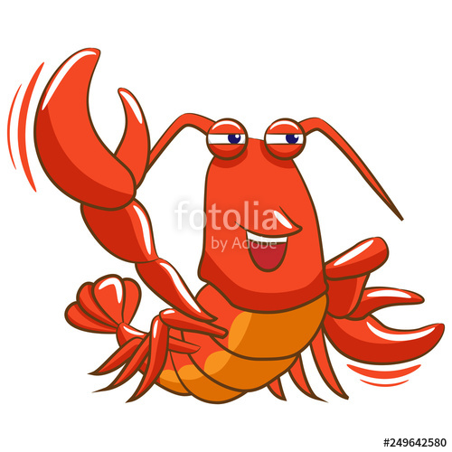 Lobster clipart cartoon. Stock image and royalty
