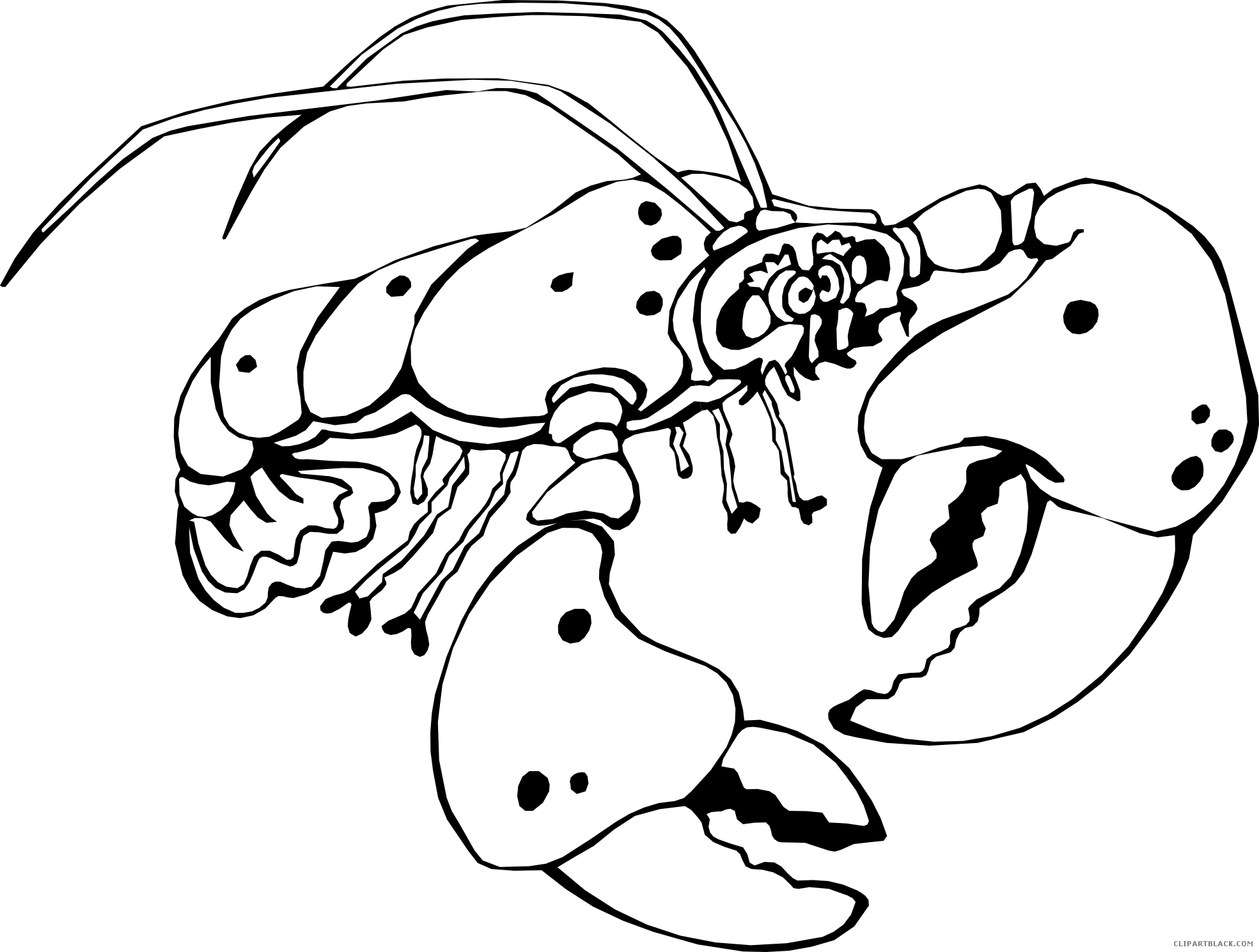 Outline clipartblack com animal. Lobster clipart clip art