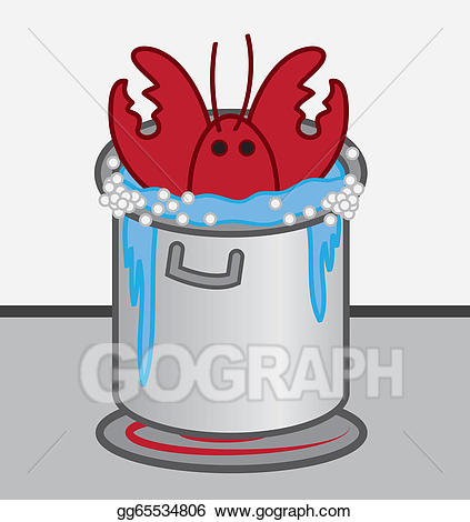 Lobster clipart cooked. Vector art cooking pot