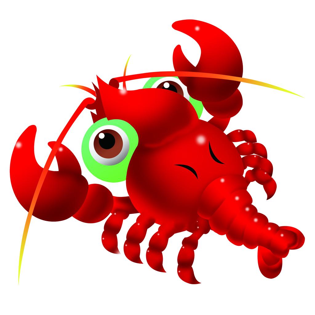 La de dibujos animados. Lobster clipart langosta