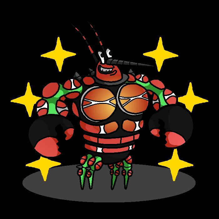 Shiny buzzwole spongebob by. Lobster clipart larry the