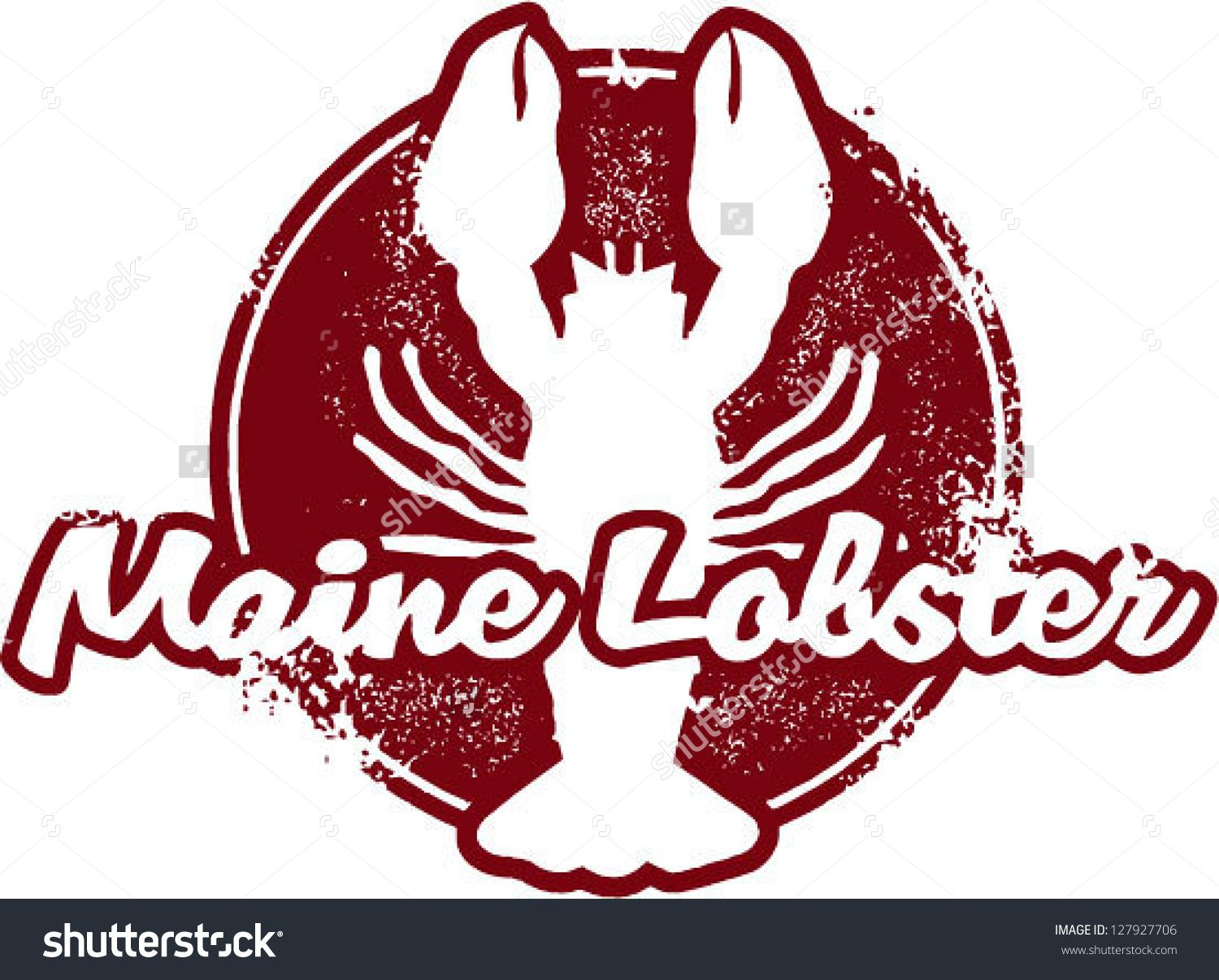 Vintage seafood stamp stock. Lobster clipart maine lobster