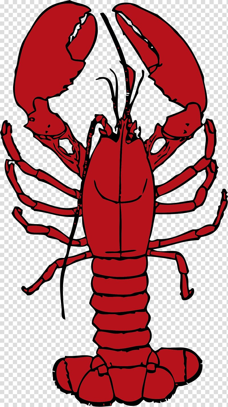 Red transparent background png. Lobster clipart maine lobster