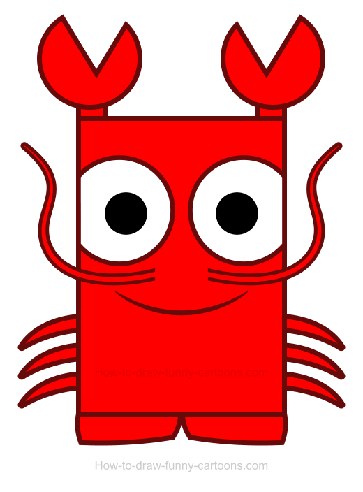Lobster clipart simple.