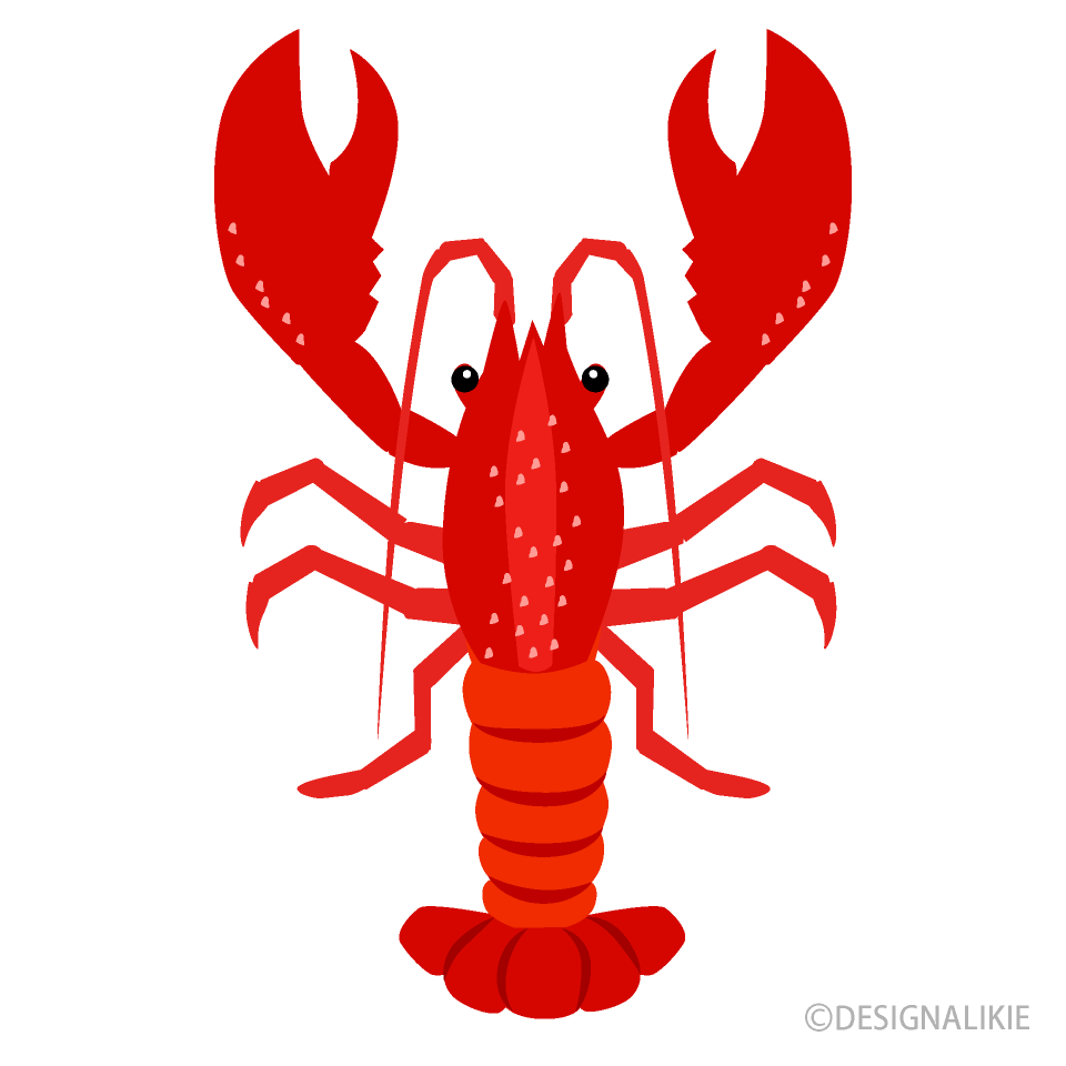 Lobster clipart simple. Free picture illustoon
