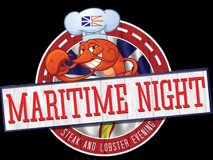Maritime night join us. Lobster clipart steak lobster