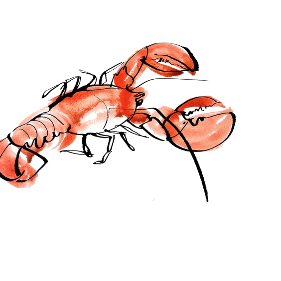 Lobster clipart watercolor. Seafood painting drawing illustration