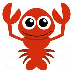 Lobster clipart. Cute from adorabletoon com