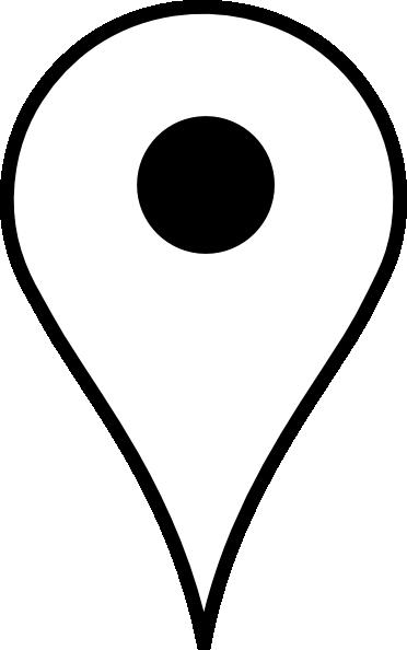 Pin white clip art. Location clipart
