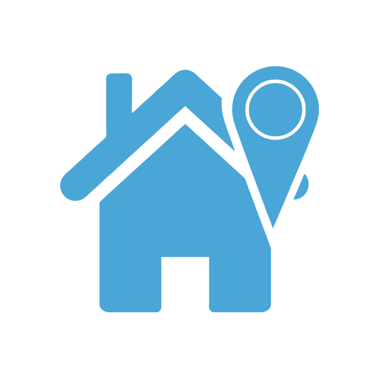 Home free icons easy. Location clipart clipart blue