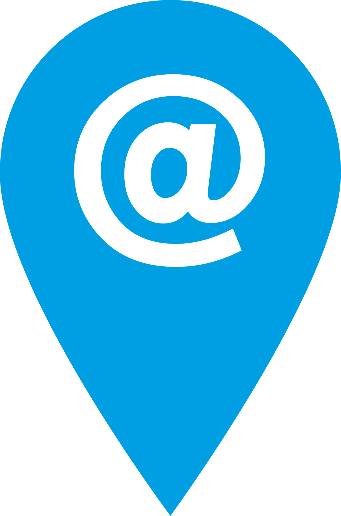 Location clipart clipart blue. Email icon big image
