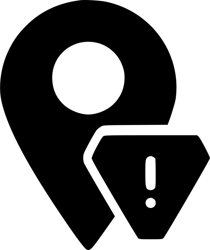 Location clipart drop pin. Marker warning alert svg