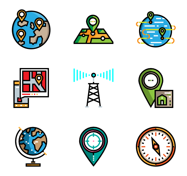 icon packs vector. Location clipart drop pin