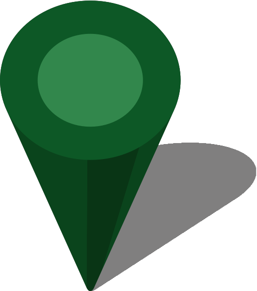 Pin clipart location. Simple map icon orange