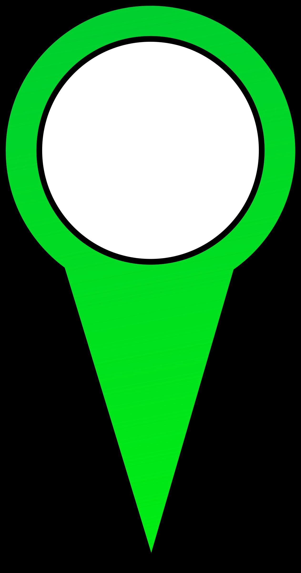 pin clipart green pin