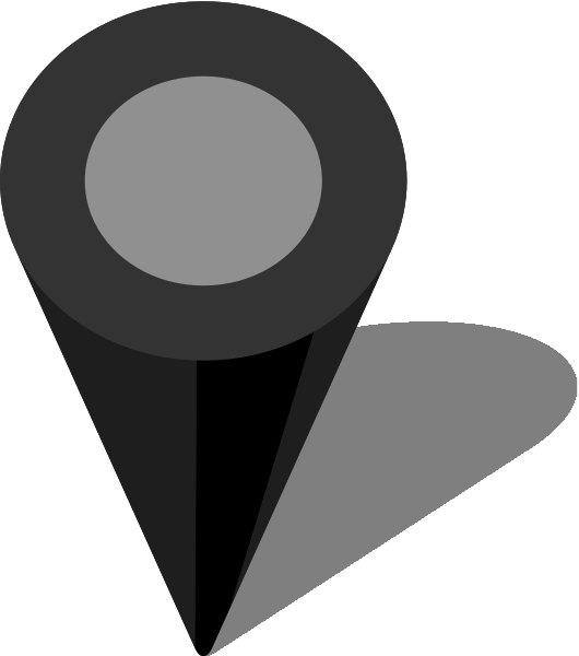 Simple map pin icon. Maps clipart location