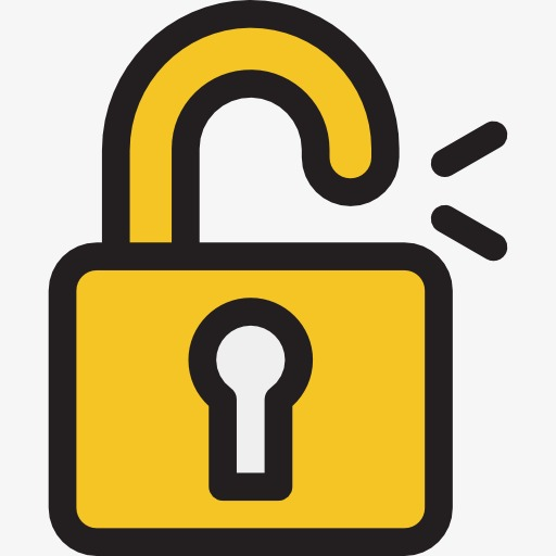 Cartoon unlock png image. Lock clipart