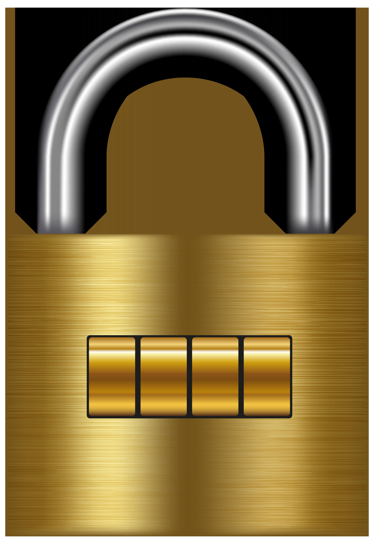 Money clipart lock. Gold png clip art