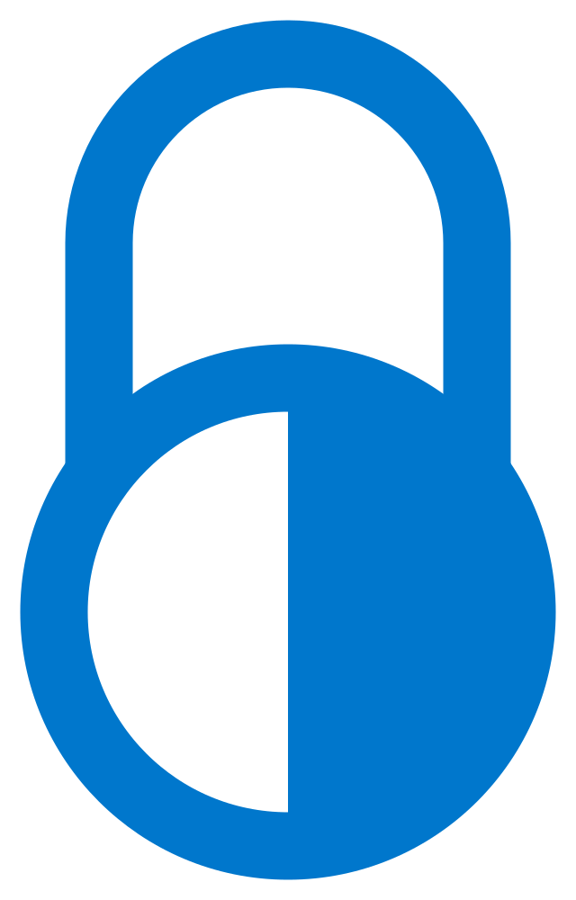 Lock clipart access. File limited free blue