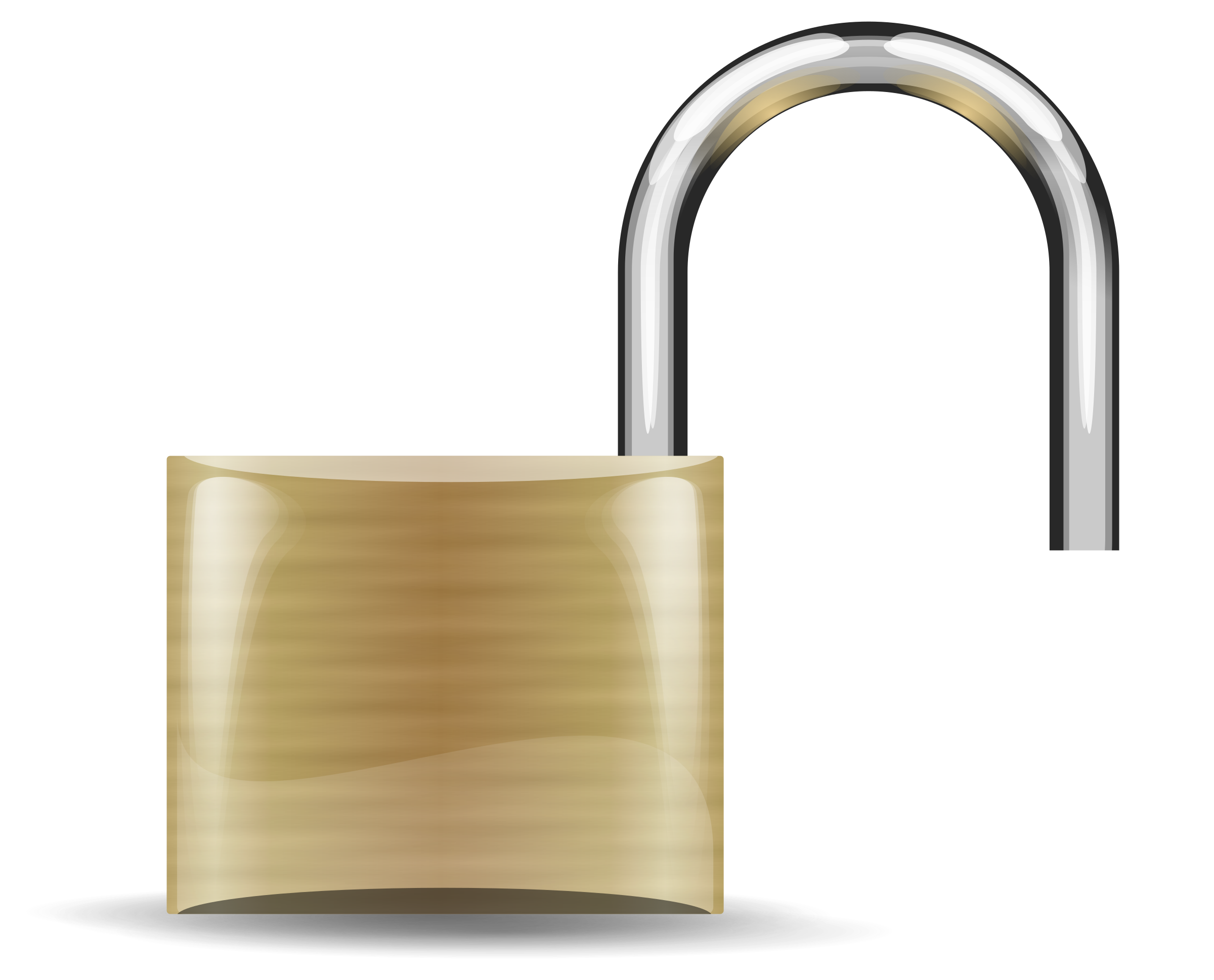 Opened image png. Lock clipart big
