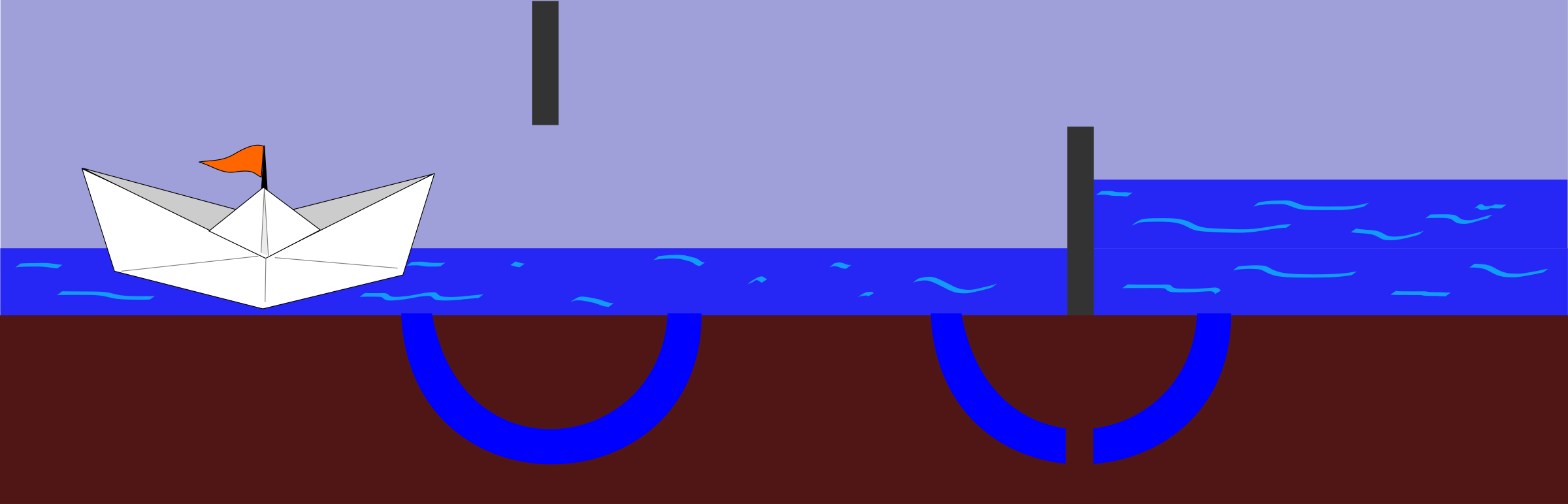 Lock clipart blue. Working of a sluice