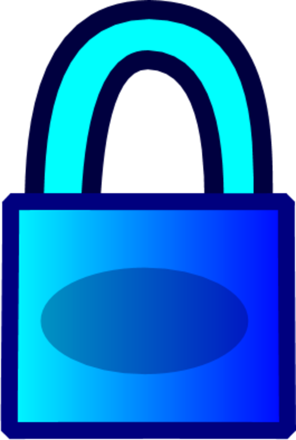 lock clipart blue