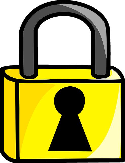 Lock clipart broken lock. Tech reviewer changing the