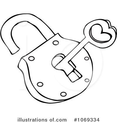 Padlock illustration by djart. Lock clipart coloring page