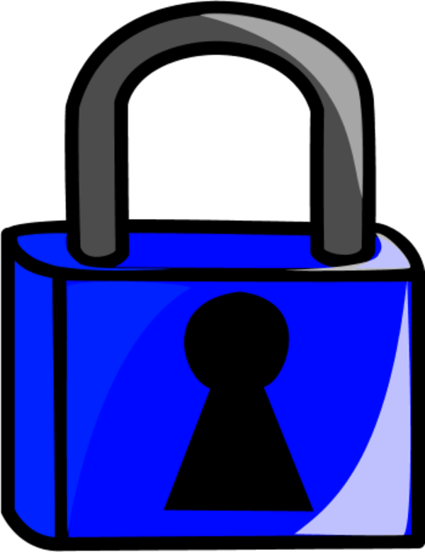 Lock clipart coloring page.  collection of png