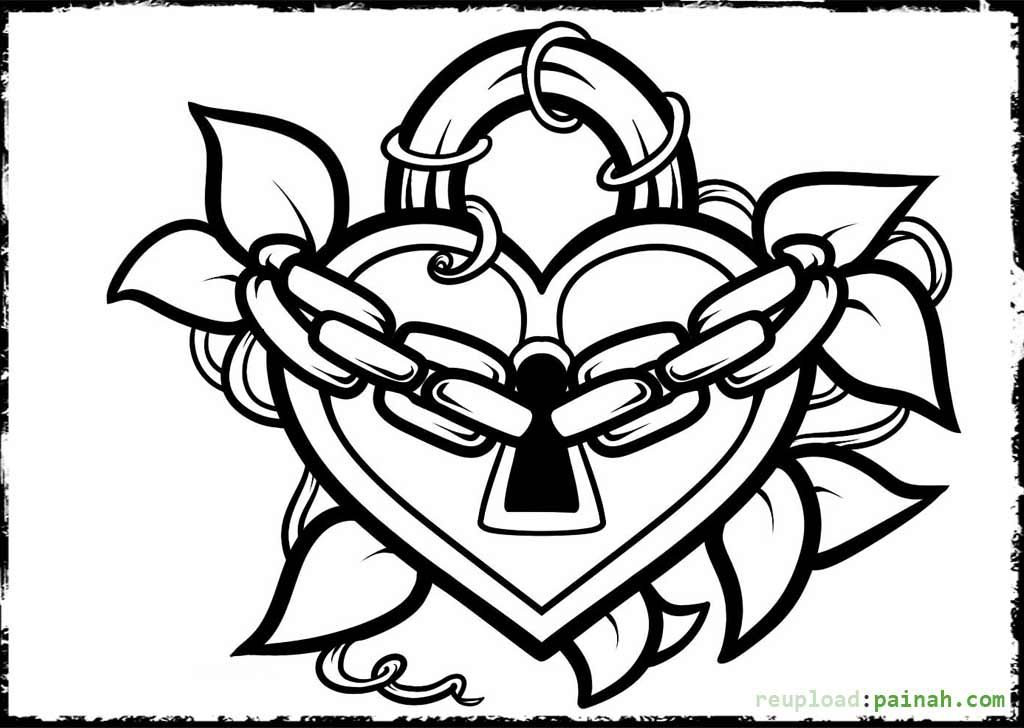 Lock clipart coloring page. Screen free pages for