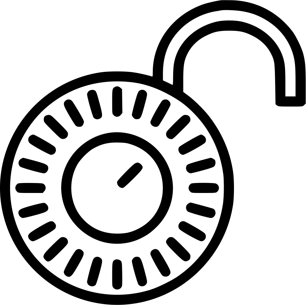 Open svg png icon. Lock clipart combination lock