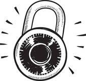 Lock clipart combo lock. Combination panda free images